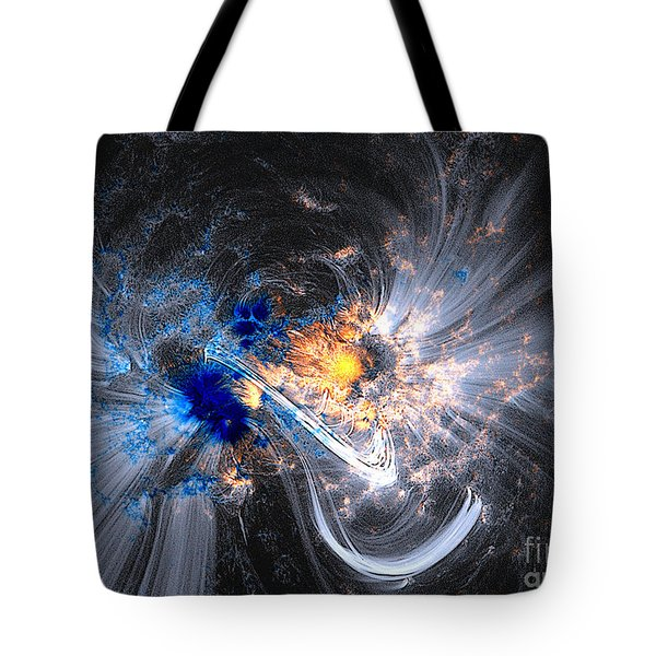 Nasa Coronal Loops Over A Sunspot Group Tote Bag