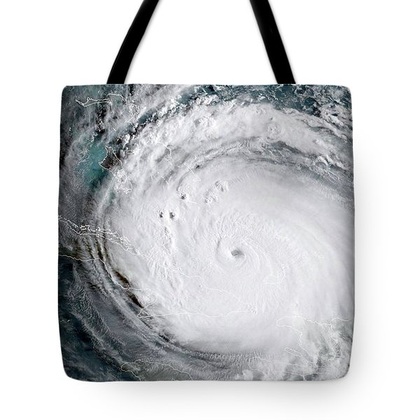 Nasa Hurricane Irma Satellite Image Tote Bag