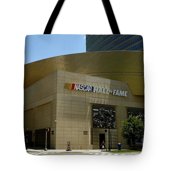 Nascar Hall Of Fame Tote Bag