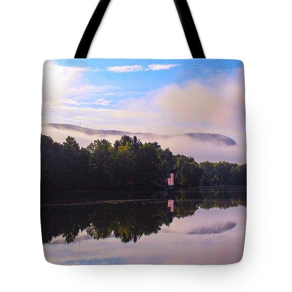 Nashawannuck Pond, Easthampton, Ma Tote Bag