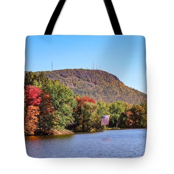 Nashawannuck Pond Fall Colors Tote Bag