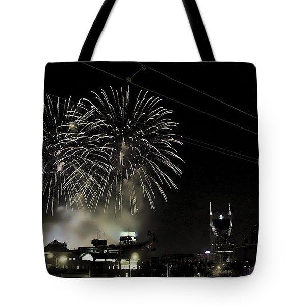 Nashville 4th Of July Tote Bag by Sheri Bartoszek