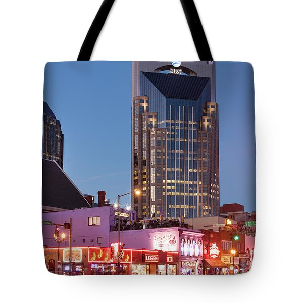 Tote Bag featuring the photograph Nashville - Batman Building by Brian Jannsen