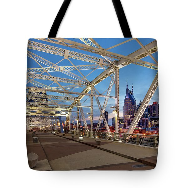 Tote Bag featuring the photograph Nashville Bridge by Brian Jannsen