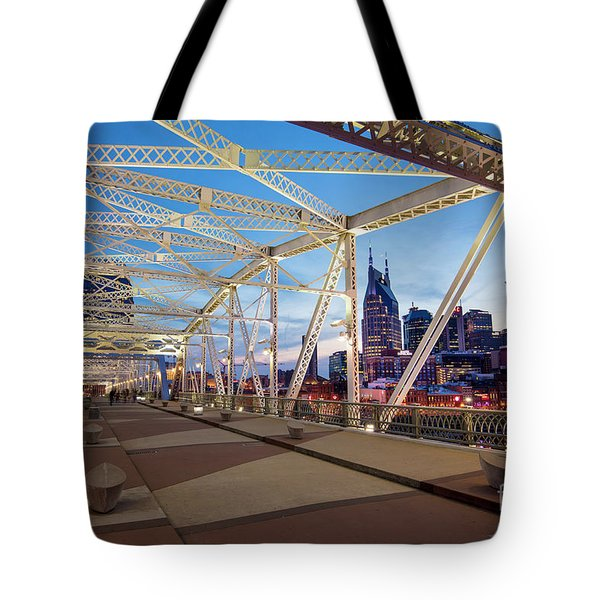 Tote Bag featuring the photograph Nashville Bridge II by Brian Jannsen