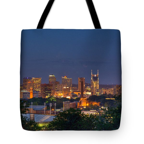 Nashville By Night 2 Tote Bag by Douglas Barnett