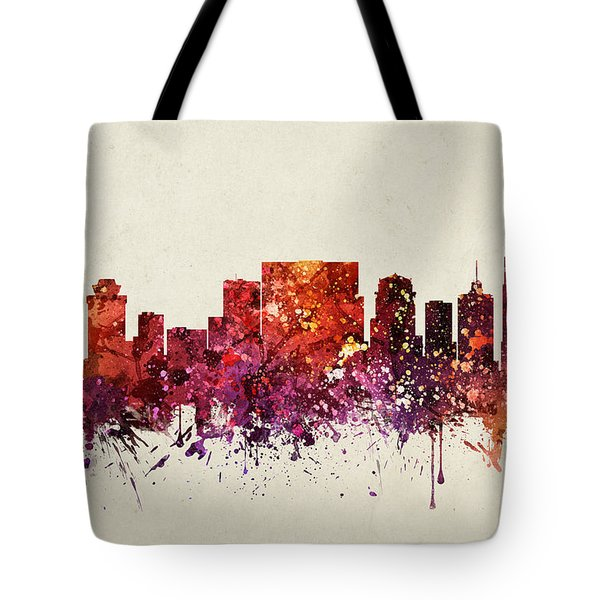 Nashville Cityscape 09 Tote Bag by Aged Pixel