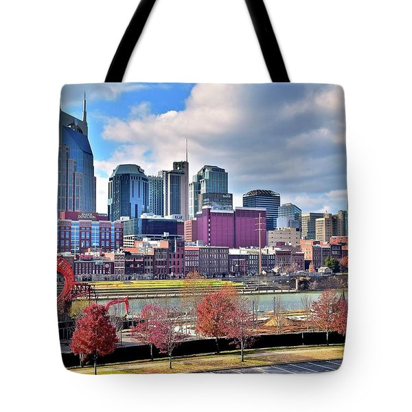 Tote Bag featuring the photograph Nashville Clouds by Frozen in Time Fine Art Photography
