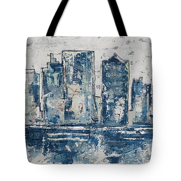 Nashville In Blues Tote Bag