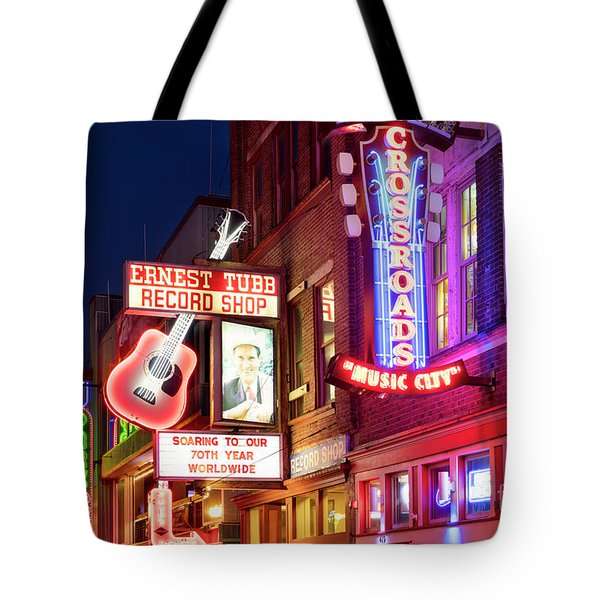 Tote Bag featuring the photograph Nashville Signs by Brian Jannsen