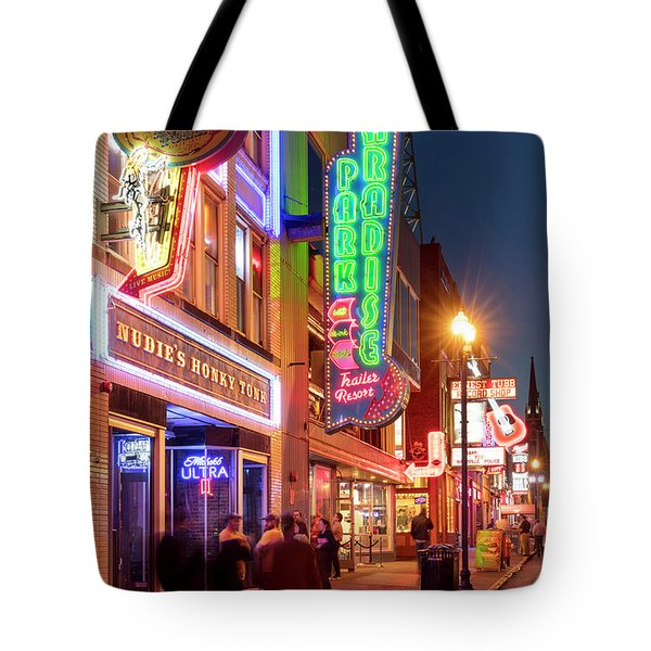 Tote Bag featuring the photograph Nashville Signs II by Brian Jannsen