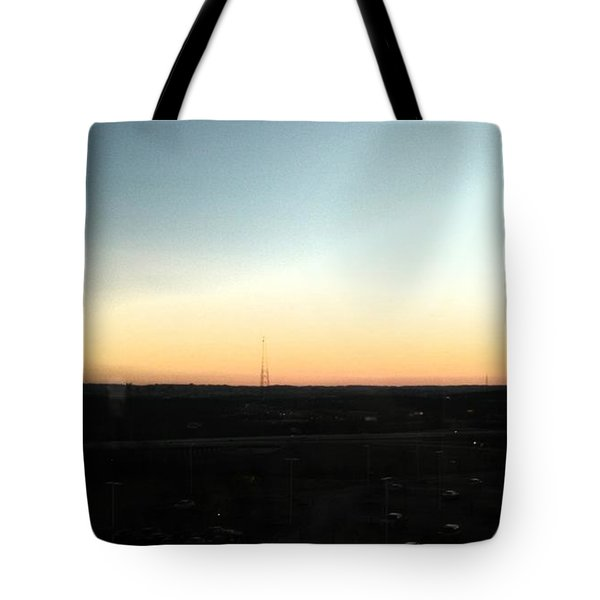 Nashville Skyline At Sunset Tote Bag by Kimberly  W