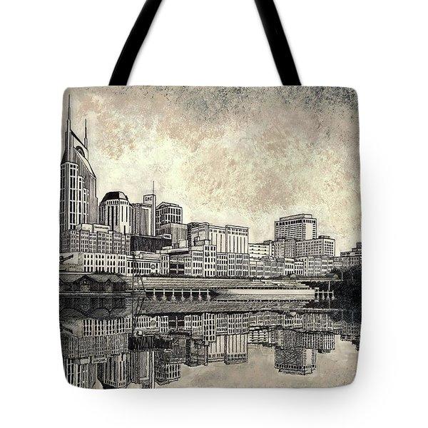 Nashville Skyline II Tote Bag