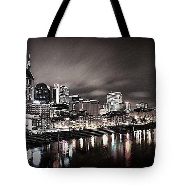 Nashville Skyline Tote Bag by Matt Helm
