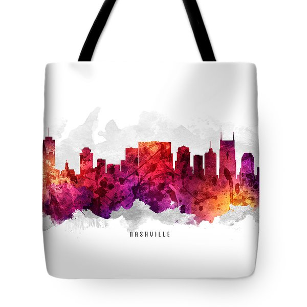 Nashville Tennessee Cityscape 14 Tote Bag by Aged Pixel