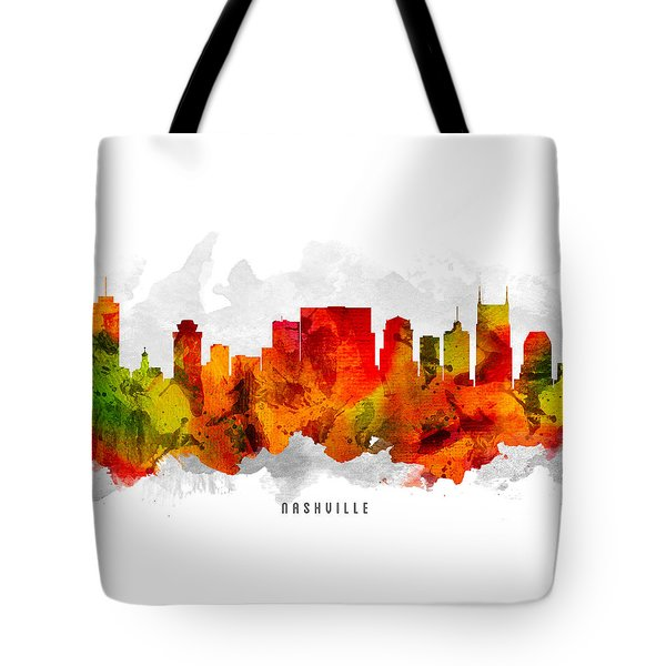 Nashville Tennessee Cityscape 15 Tote Bag by Aged Pixel