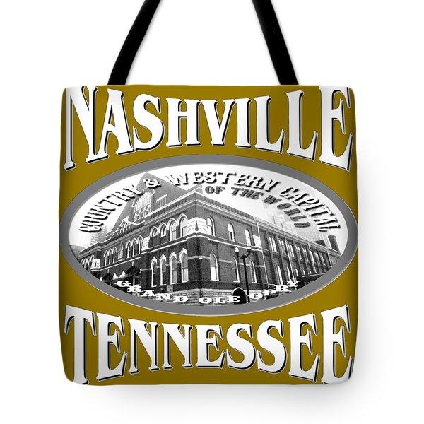 Nashville Tennessee Design Tote Bag