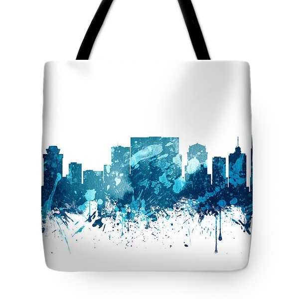 Nashville Tennessee Skyline 19 Tote Bag by Aged Pixel