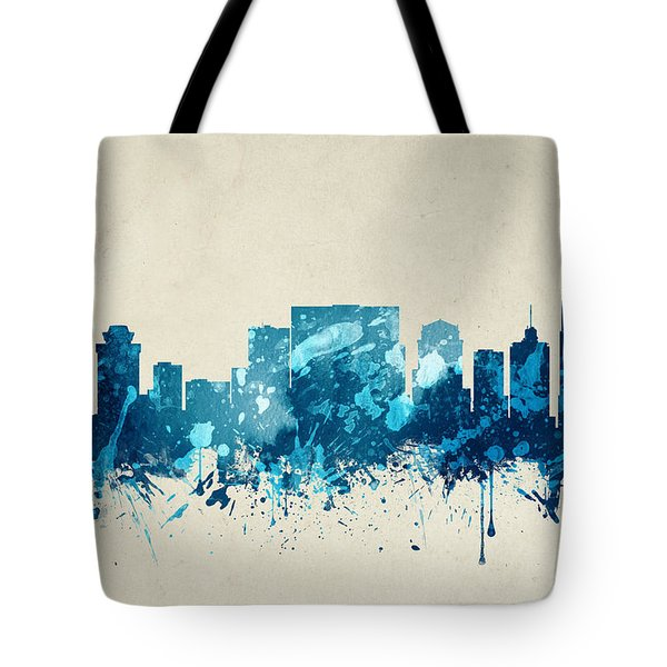 Nashville Tennessee Skyline 20 Tote Bag by Aged Pixel