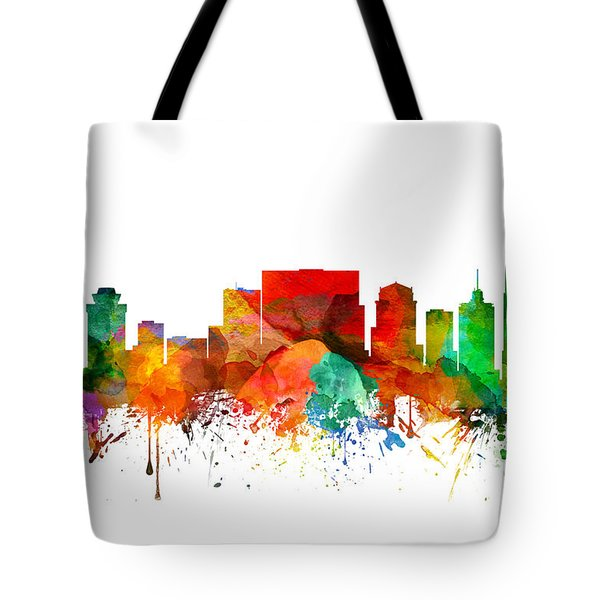 Nashville Tennessee Skyline 21 Tote Bag by Aged Pixel