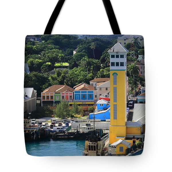 Tote Bag featuring the photograph Nassau Bahamas by Coby Cooper