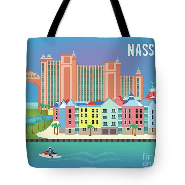 Nassau Bahamas Horizontal Scene Tote Bag