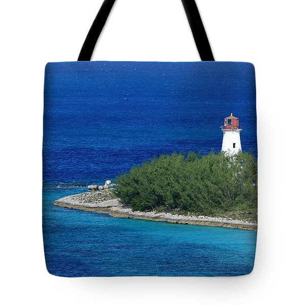 Tote Bag featuring the photograph Nassau Lighthouse 1 by Coby Cooper