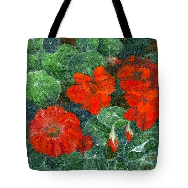 Nasturtiums Tote Bag
