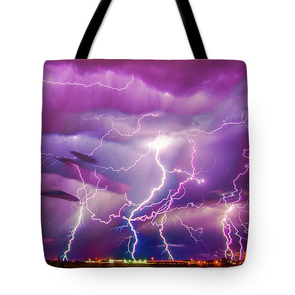 Nasty But Awesome Late Night Lightning 008 Tote Bag