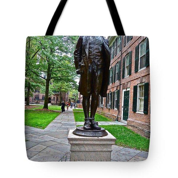 Nathan Hale Tote Bag