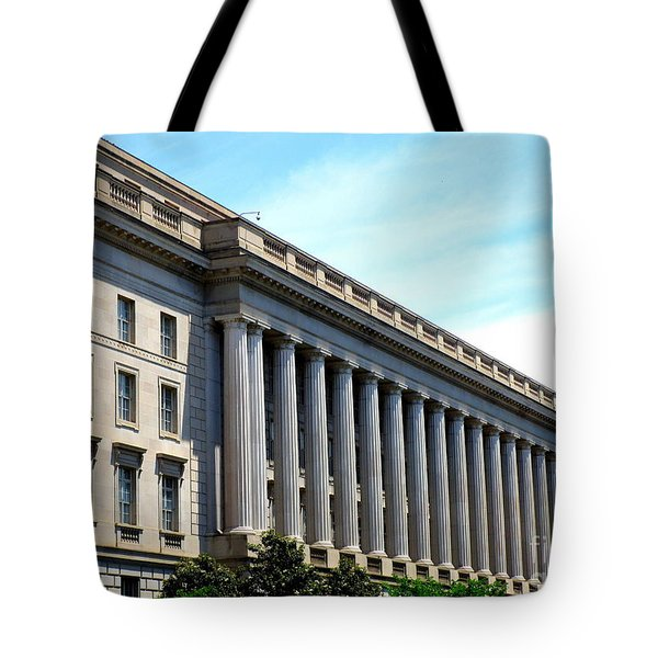National Archives 2 Tote Bag by Randall Weidner