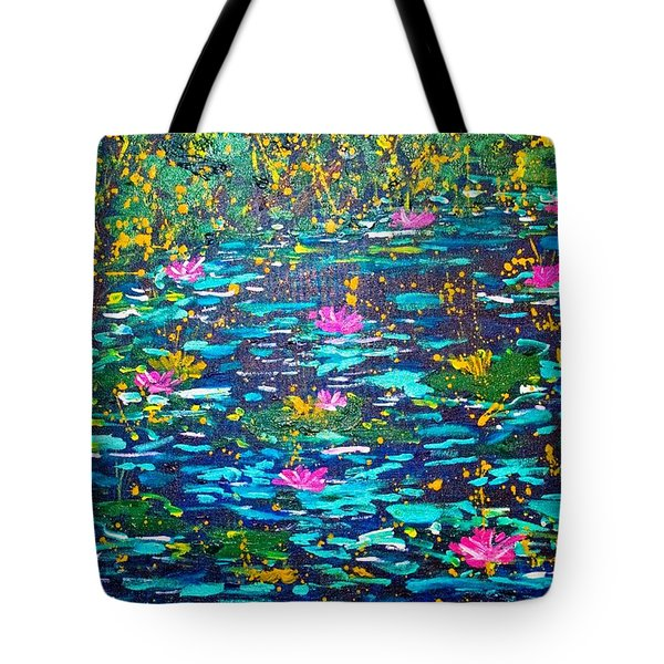Tote Bag featuring the painting National Flowers by Piety Dsilva