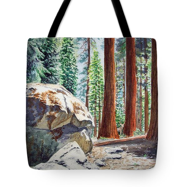 National Park Sequoia Tote Bag by Irina Sztukowski