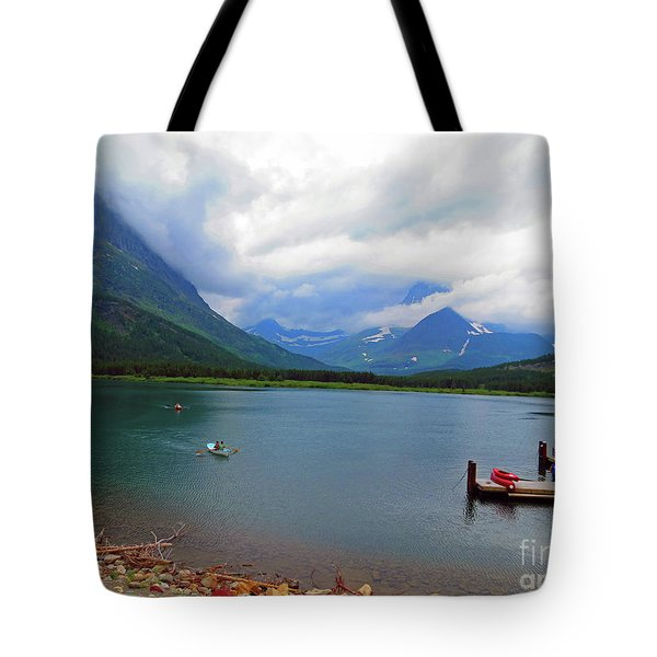 National Parks. Serenity Of Mcdonald Tote Bag
