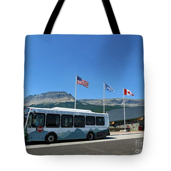 Tote Bag featuring the photograph National Parks. St. Mary Visitor Center At Glacier by Ausra Huntington nee Paulauskaite