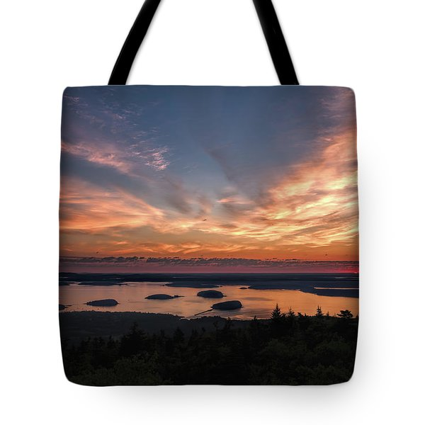 Tote Bag featuring the photograph National Sunrise by John M Bailey