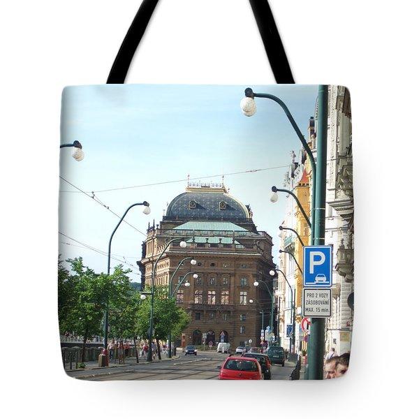National Theatre In Prague Tote Bag