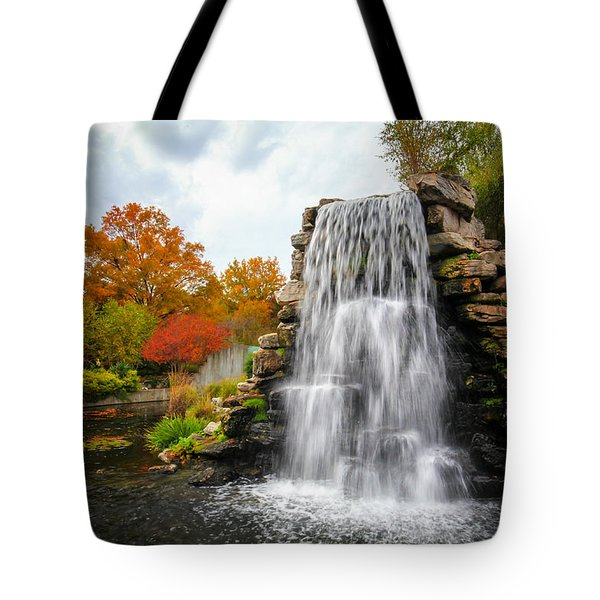 Tote Bag featuring the photograph National Zoo Waterfall by Ross Henton
