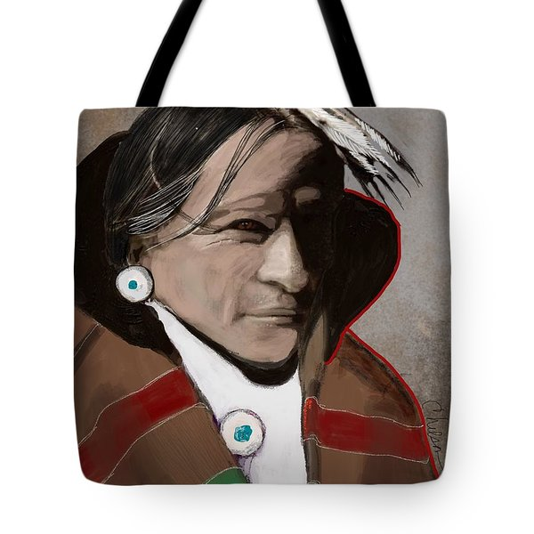 2fef4b7bbb79 Tote Bag featuring the painting Native American 3 Revisited 2016 by Craig  Nelson