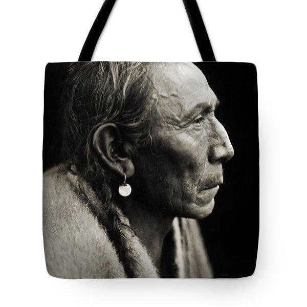 Native American Aki-tanni Two Guns Tote Bag by Jennifer Rondinelli Reilly - Fine Art Photography