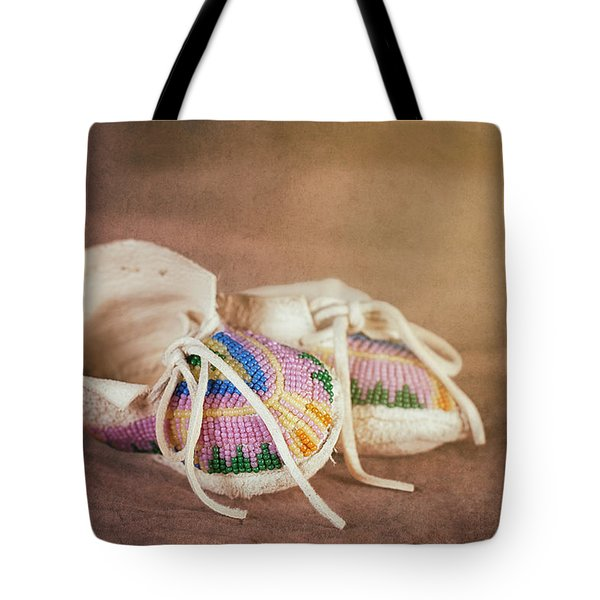 Native American Baby Shoes Tote Bag