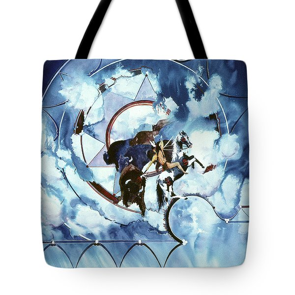 Native American Blue Spirit Tote Bag