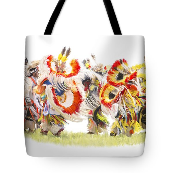 Native Color In Motion Tote Bag