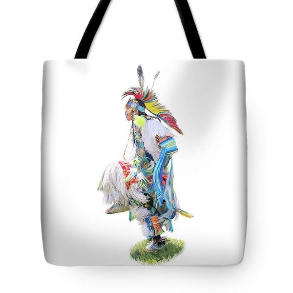 Native Pow Wow Dancer Tote Bag