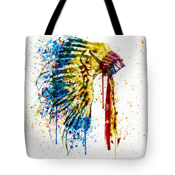 Native American Feather Headdress   Tote Bag