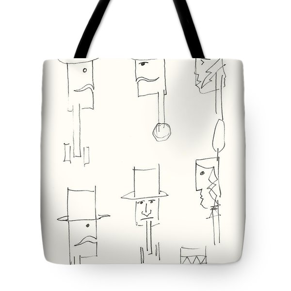 Native American Figures Tote Bag by Charles Stuart