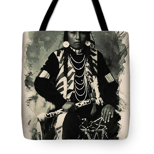 Native American Indian Portrait Profile Series - No 2 Tote Bag