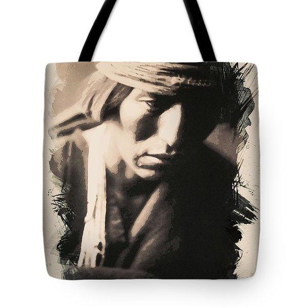 Native American Indian Portrait Profile Series - No 3 Tote Bag