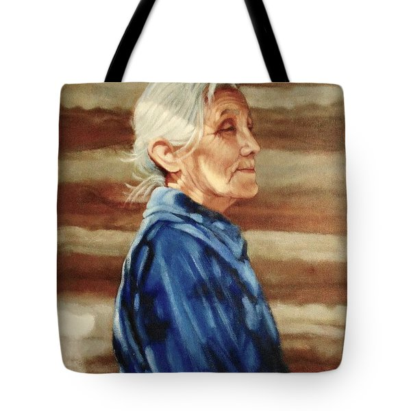 Native American Tote Bag by Janet McGrath
