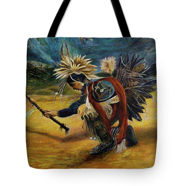 Native American Rain Dance Tote Bag